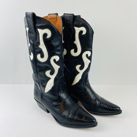 Romnee Cowboy Western Boots Leather